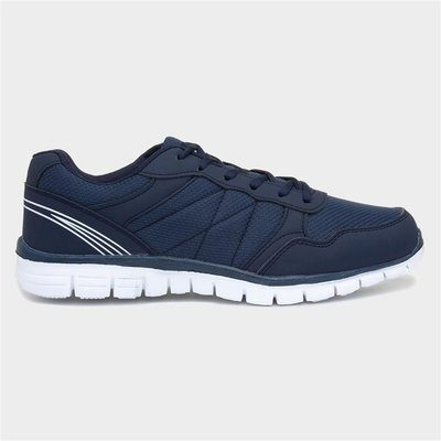 Mens Navy Blue Lace Up Trainers
