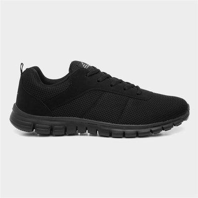 Mens Black Lace Up Trainer