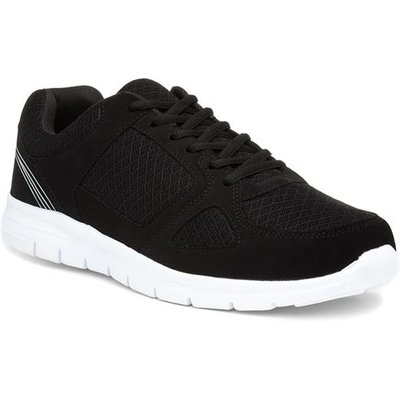 Mens Lace Up Black Trainer