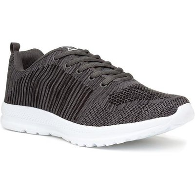 Mens Grey Lace Up Trainer