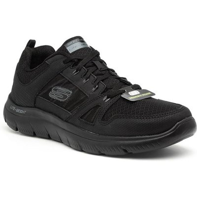 Skechers Summits Mens Black Lace Up Trainer