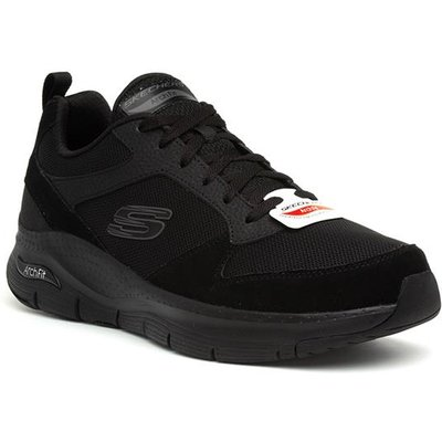 Skechers Arch Fit Mens Black Lace Up Trainer