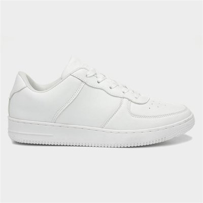 Ladies White Lace Up Trainers