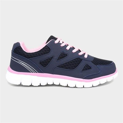 Womens Navy And Pink Womens Trainer