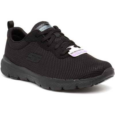 Skechers Flex Appeal First Insight Black Trainer