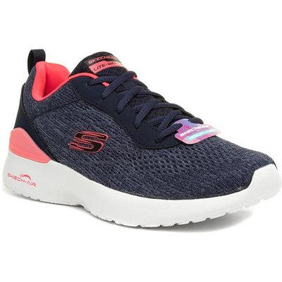 Skechers Dynamight Womens Navy Lace Up Trainer