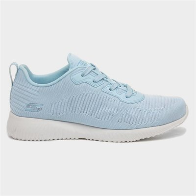 Skechers Bob Squad Womens Blue Lace Up Trainer