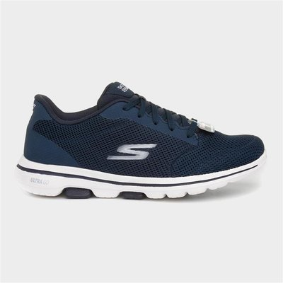 Skechers Go Walk 5 Womens Navy Lace Up Trainer