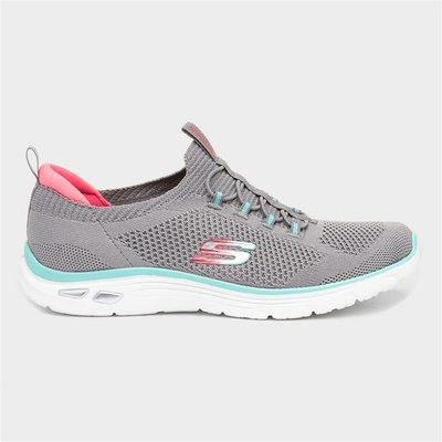 Skechers Empire D'Lux Paradise Womens Grey Trainer
