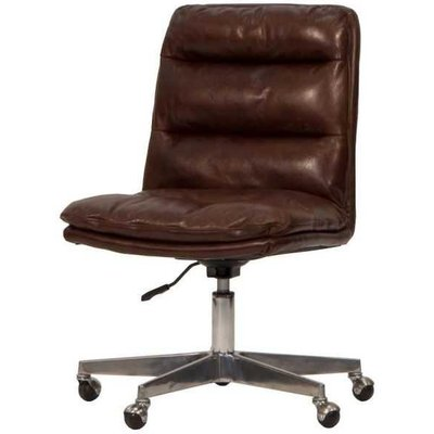 Hallam Brown Leather Office Chair