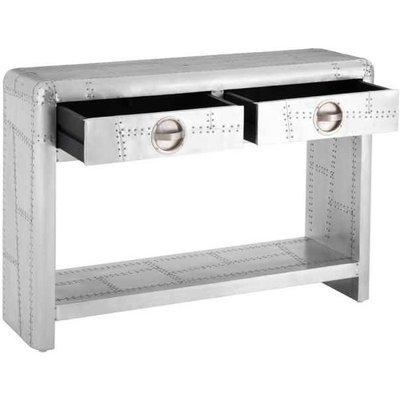 Aviator Silver Console Table