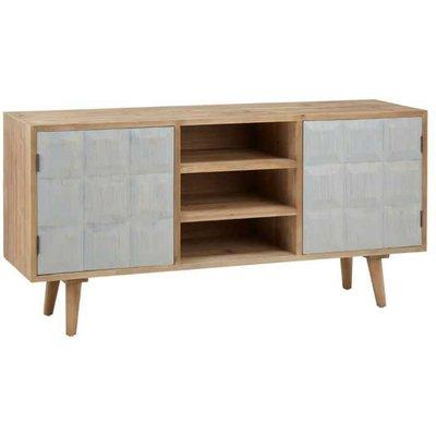 White Washed Wood Sideboard