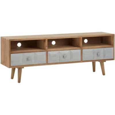 White Washed Wood Tv Unit