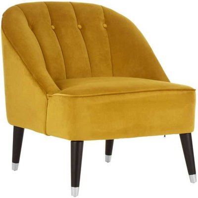 Mustard Velvet Cocktail Chair