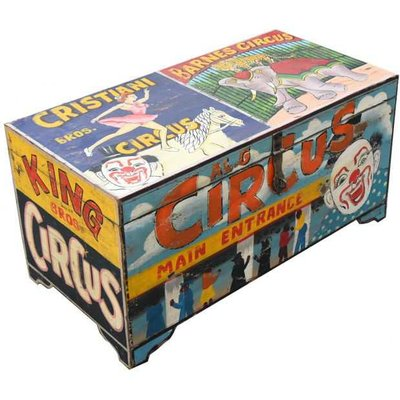 Carnival Clown Storage Trunk