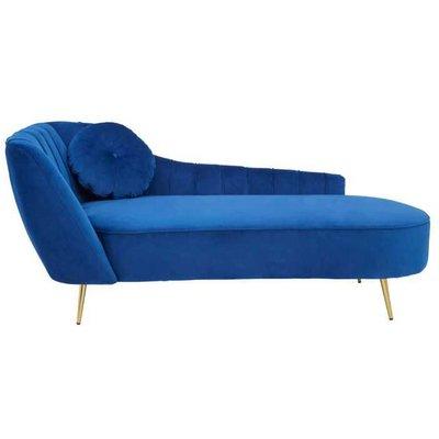 Blue Chaise Longues