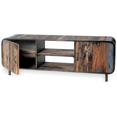 Reclaimed Drum TV Unit