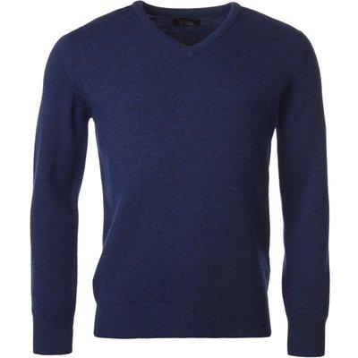 Mens Great   British Knitwear 100  Lambswool Plain V Neck Jumper - 5053801122988