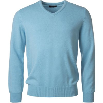 Mens Great   British Knitwear 100  Lambswool Plain V Neck Jumper - 5053801123497