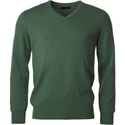 Mens Great   British Knitwear 100  Lambswool Plain V Neck Jumper - 5053801123787