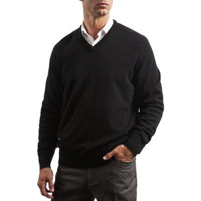 Mens Great   British Knitwear 100  Lambswool Plain V Neck Jumper - 5053801006097