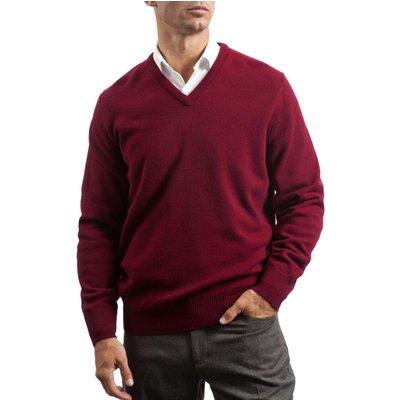 Mens Great   British Knitwear 100  Lambswool Plain V Neck Jumper - 5053801005984