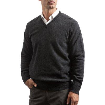 Mens Great   British Knitwear 100  Lambswool Plain V Neck Jumper - 5053801006226