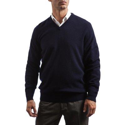 Mens Great   British Knitwear 100  Lambswool Plain V Neck Jumper - 5053801005922