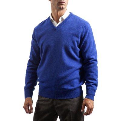 Mens Great   British Knitwear 100  Lambswool Plain V Neck Jumper - 5053801006424