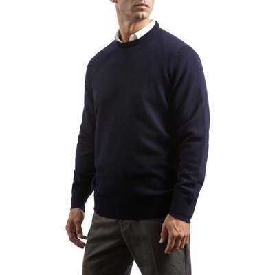 Mens Great   British Knitwear 100  Lambswool Plain Crew Neck Jumper - 5053801006516