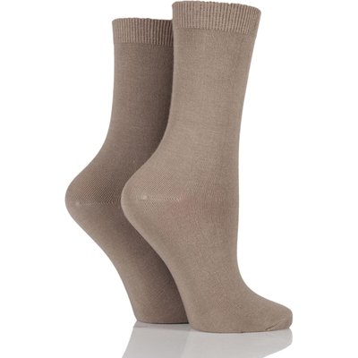 Ladies 2 Pair Charnos Cotton Modal Socks