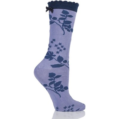 Ladies 1 Pair Charnos Floral Bamboo Socks with Bow