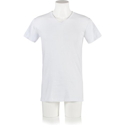 Mens 1 Pack Heat Holders V Neck Short Sleeved Thermal Vest - 5019041112158
