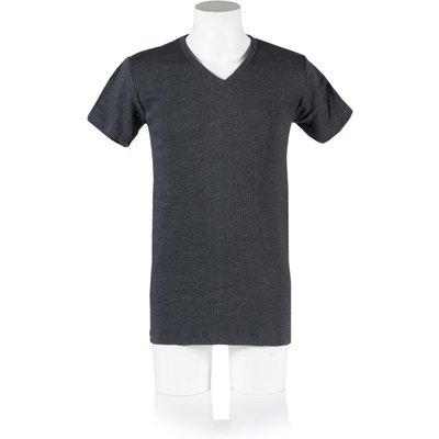 Mens 1 Pack Heat Holders V Neck Short Sleeved Thermal Vest - 5019041112226