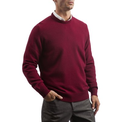 Mens Great   British Knitwear 100  Lambswool Plain Crew Neck Jumper - 5053801124036