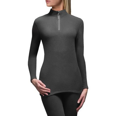 Ladies 1 Pack SockShop Heat Holders Microfleece Base Layer Long Sleeved Top - 5019041081799