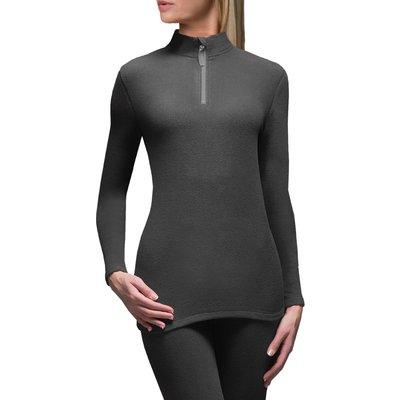 Ladies 1 Pack SockShop Heat Holders Microfleece Base Layer Long Sleeved Top - 5019041081829