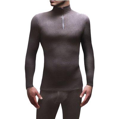 Mens 1 Pack SockShop Heat Holders Microfleece Base Layer Long Sleeved Top - 5019041081782