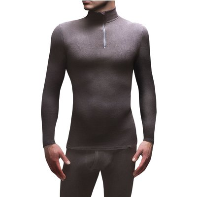 Mens 1 Pack SockShop Heat Holders Microfleece Base Layer Long Sleeved Top - 5019041081744