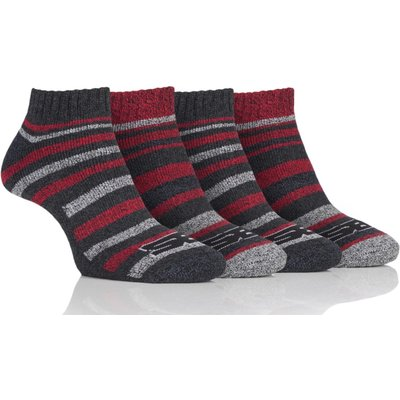 Mens 4 Pair Storm Bloc Performance Trainer Socks