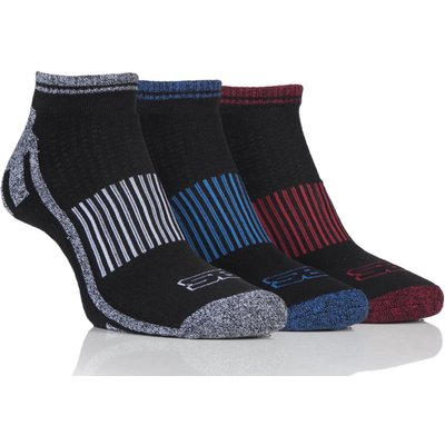 Mens 3 Pair Storm Bloc Trainer Socks, Black