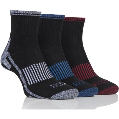 Mens 3 Pair Storm Bloc Ankle Socks