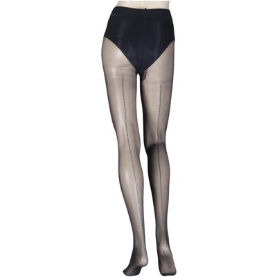 1 Pair Silver Riga 20 Denier Back Seamed Tights Ladies Large/Extra Large - Oroblu, Black