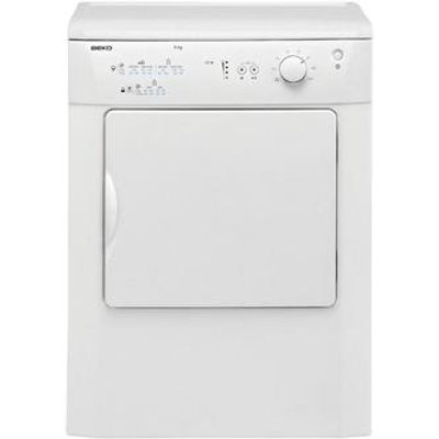 Beko DRVT61W 6kg Vented Tumble Dryer in White Reverse Action Drum