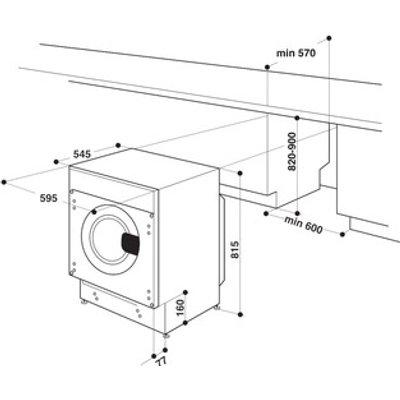 Hotpoint BIWMHG81484 Fully Integrated Washing Machine 1400rpm 8kg A Ra