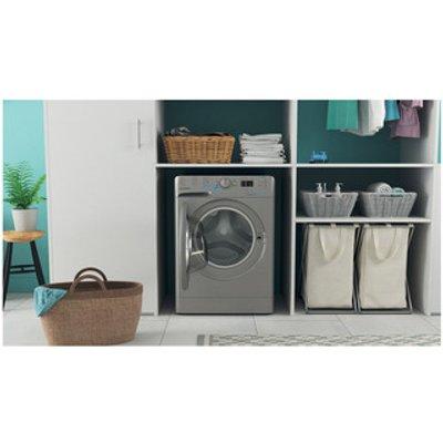 Indesit BWA81485XSUK Washing Machine in Silver 1400rpm 8Kg B Rated