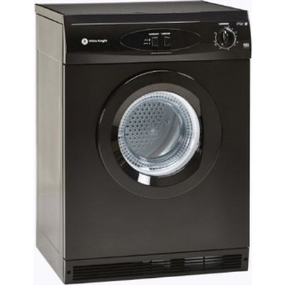 White Knight C44A7B 7kg Air Vented Tumble Dryer in Black Reverse Actio