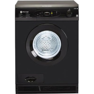 White Knight C86A7B 7kg Air Vented Tumble Dryer in Black Sensor Contro