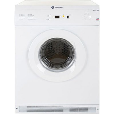 White Knight C86A7W 7kg Air Vented Tumble Dryer in White Sensor Contro