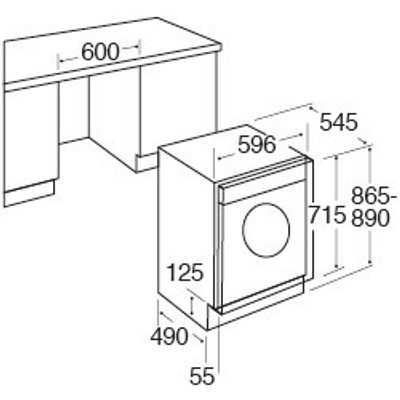 CDA CI921 7kg Integrated Vented Tumble Dryer Reverse Action